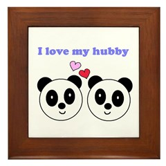 I LOVE MY HUBBY Framed Tile