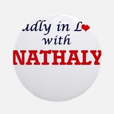 Madly in Love with Nathaly Round Ornament