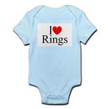 """I Love (Heart) Rings"" Infant Bodysuit"