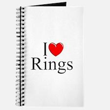 """""""I Love (Heart) Rings"""" Journal"""
