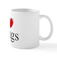 """I Love (Heart) Rings"" Mug"