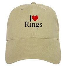 """I Love (Heart) Rings"" Baseball Cap"