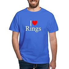 """""""I Love (Heart) Rings"""" T-Shirt"""