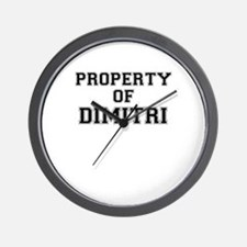 Property of DIMITRI Wall Clock