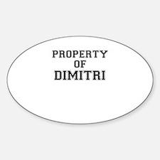 Property of DIMITRI Decal