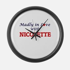 Madly in Love with Nicolette Large Wall Clock