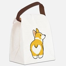 Cartoon Corgi Canvas Lunch Bag