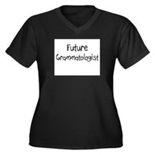 Future Grammatologist Women's Plus Size V-Neck Dar