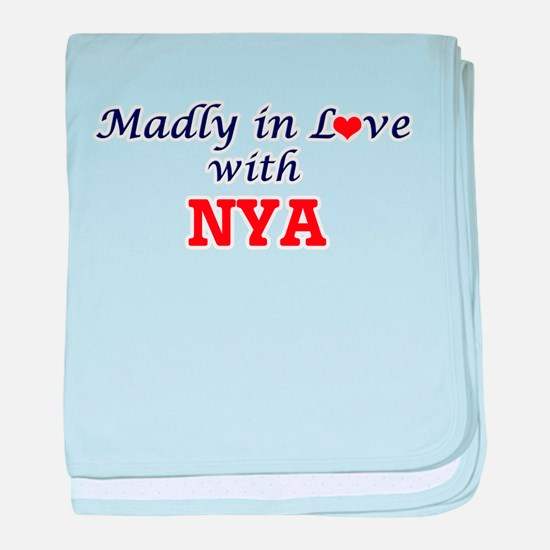 Madly in Love with Nya baby blanket