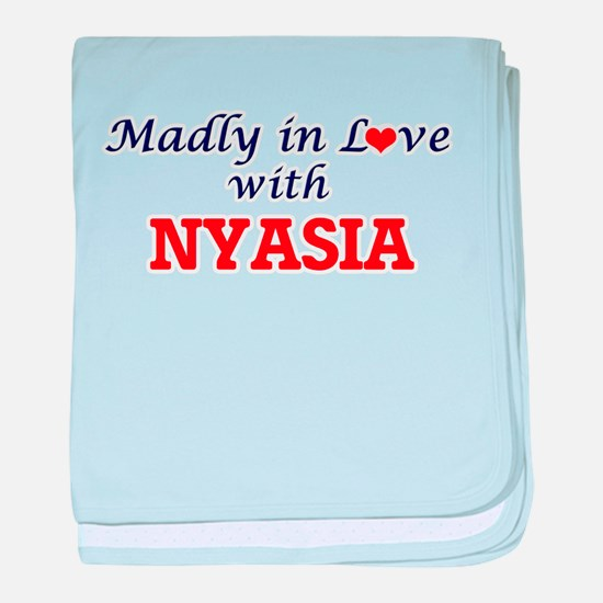 Madly in Love with Nyasia baby blanket