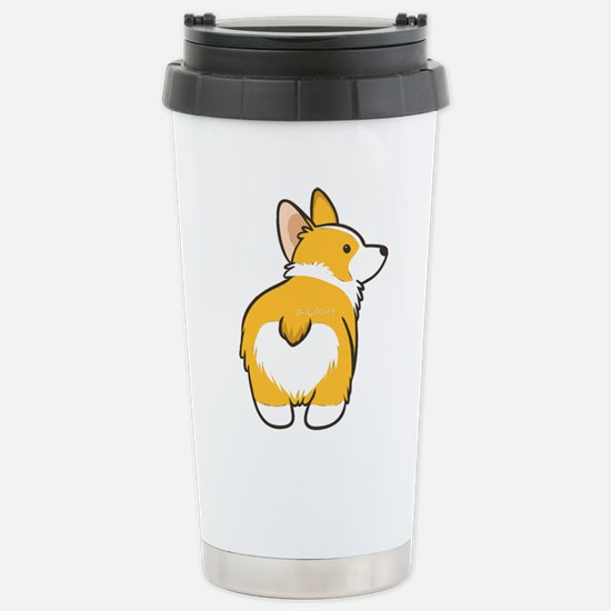 Cartoon Corgi Stainless Steel Travel Mug