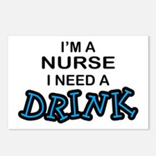 Nurse Need a Drink Postcards (Package of 8)