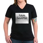 Future Governor Women's V-Neck Dark T-Shirt
