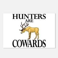 Hunters are cowards Postcards (Package of 8)