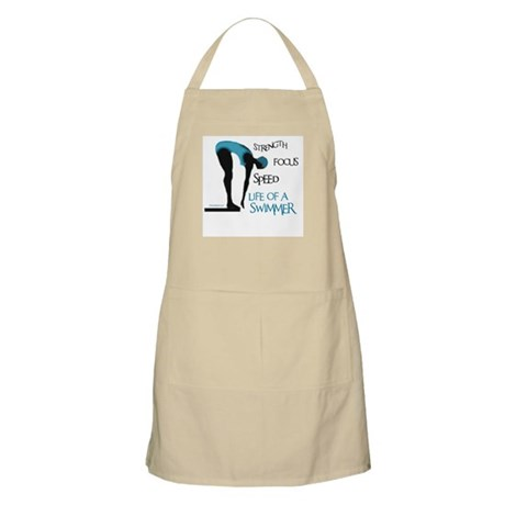 STRENGTH FOCUS SPEED LIFE OF A SWIMMER BBQ Apron