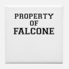 Property of FALCONE Tile Coaster