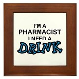 Occupation pharmacy Framed Tiles