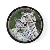 Siberian tiger clock Wall Clocks
