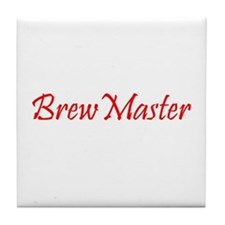 Brew Master Red Tile Coaster