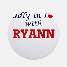 Madly in Love with Ryann Round Ornament