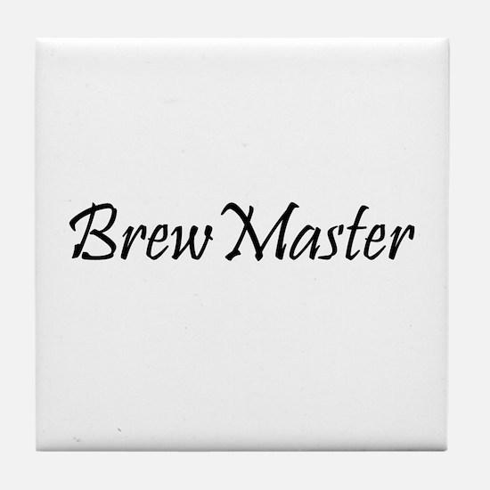 Brew Master Black Tile Coaster