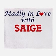 Madly in Love with Saige Throw Blanket