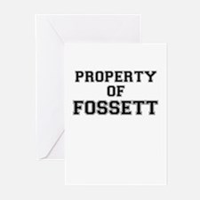 Property of FOSSETT Greeting Cards