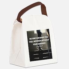 Unique Eleanor roosevelt quote tea Canvas Lunch Bag
