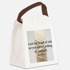 Funny Eleanor roosevelt quote tea Canvas Lunch Bag