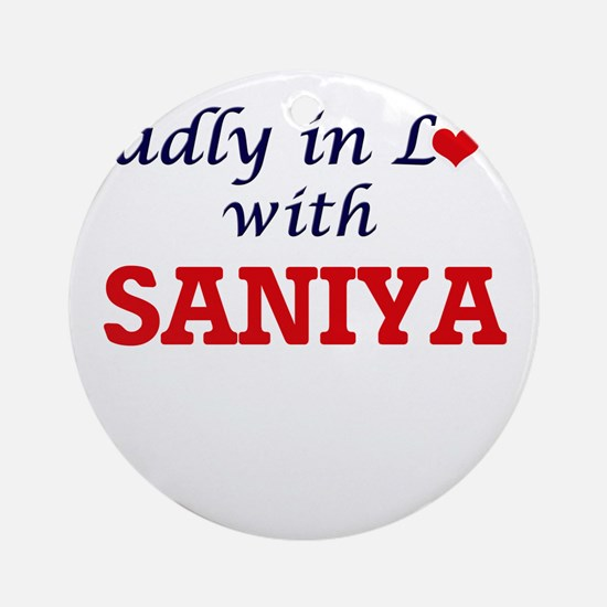 Madly in Love with Saniya Round Ornament