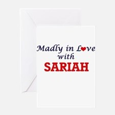 Madly in Love with Sariah Greeting Cards