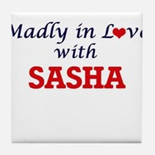 Madly in Love with Sasha Tile Coaster