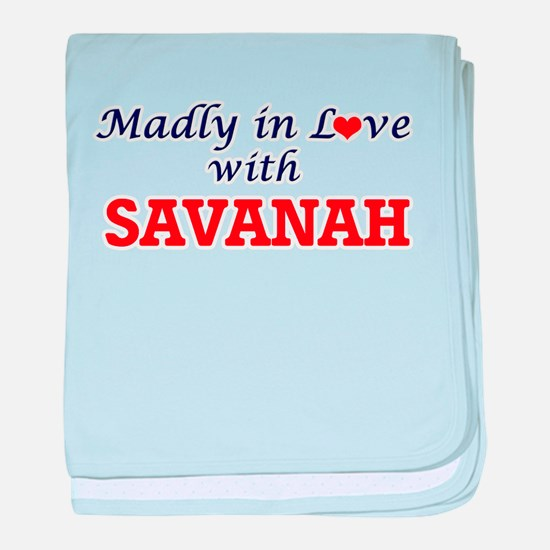 Madly in Love with Savanah baby blanket