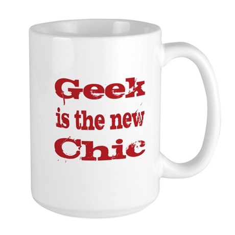 Geek is the New Chic Red Large Mug