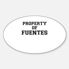 Property of FUENTES Decal