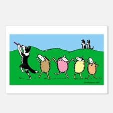 Border Collie Pied Piper Postcards (Package of 8)