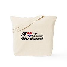 I love my Croatian Husband Tote Bag