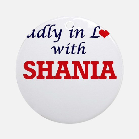 Madly in Love with Shania Round Ornament