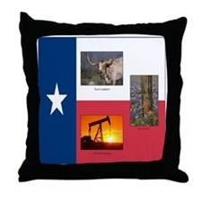 Texas Themed Throw Pillow