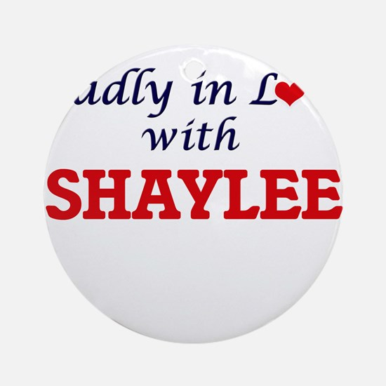 Madly in Love with Shaylee Round Ornament