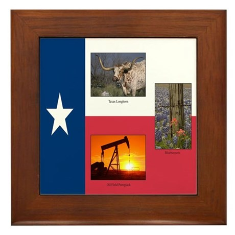 Texas Themed Framed Tile