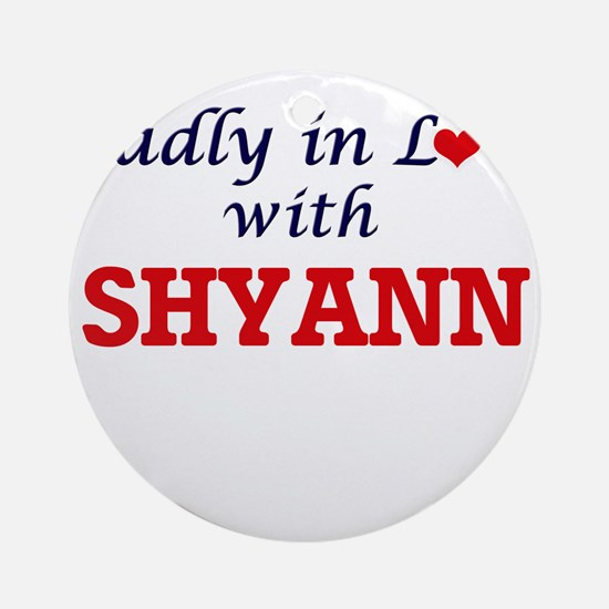 Madly in Love with Shyann Round Ornament