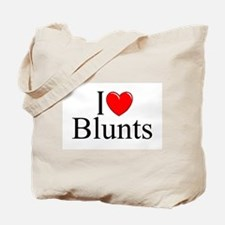 """I Love (Heart) Blunts"" Tote Bag"