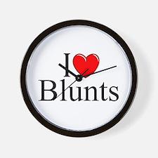 """I Love (Heart) Blunts"" Wall Clock"