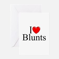 """I Love (Heart) Blunts"" Greeting Cards (Pk of 10)"
