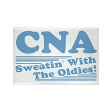 CNA Sweatin' With The Oldies Rectangle Magnet
