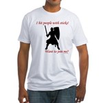 Hit with Sticks Fitted T-Shirt