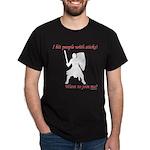 Hit with Sticks Dark T-Shirt