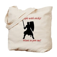 Hit with Sticks Tote Bag