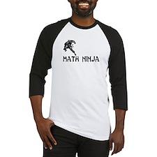 Math Ninja Baseball Jersey
